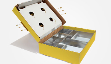 Innovative takeaway interlocking six-corner tray meal box