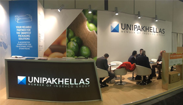 Unipakhellas Booth at fruit logistica 2017