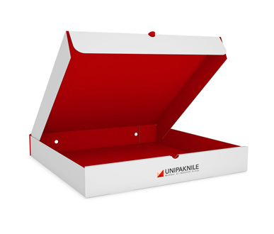 Front Self-Locking Pizza Box- UNIPAKNILE-PIB-02-003