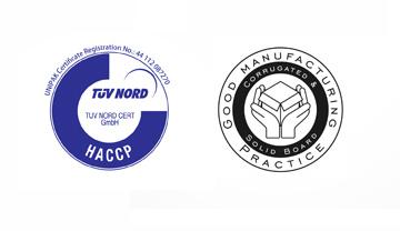 UNIPAK RETAINS HACCP & FEFCO GMP CERTIFICATIONS - INDEVCO