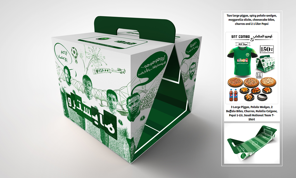 EASTERNPAK collaborates with Daily Food Company and develops an innovative football-themed combo box for their brand Maestro Pizza.