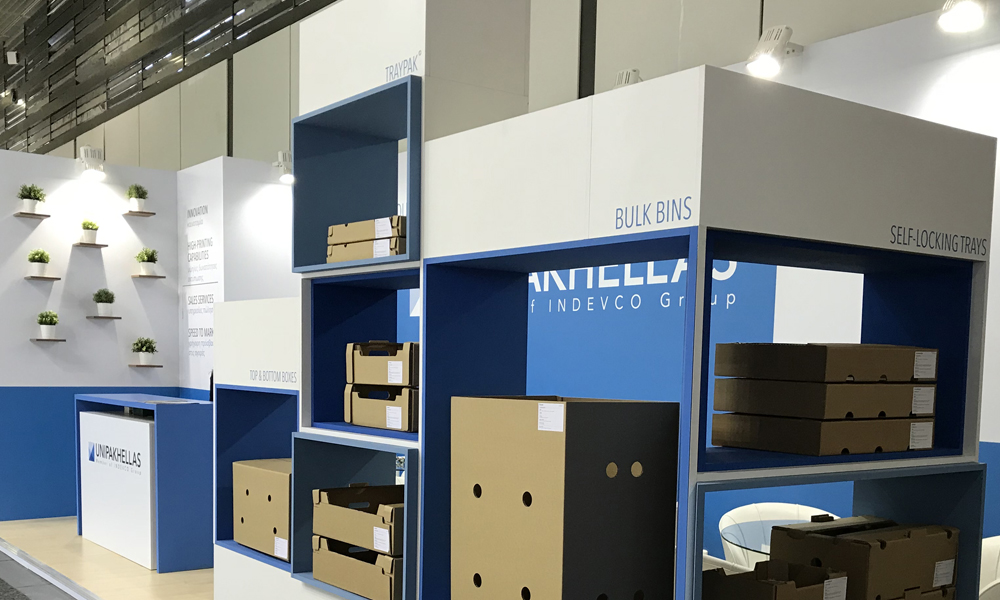 UNIPAKHELLAS DISPLAYS CORRUGATED PACKAGING AT FRUIT LOGISTICA 2018.