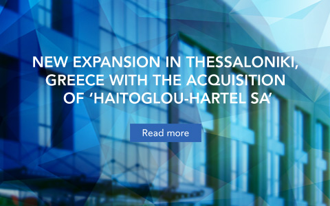 New expansion in Thessaloniki, greece with the acquisition of 'Haitoglou-Hartel sa'